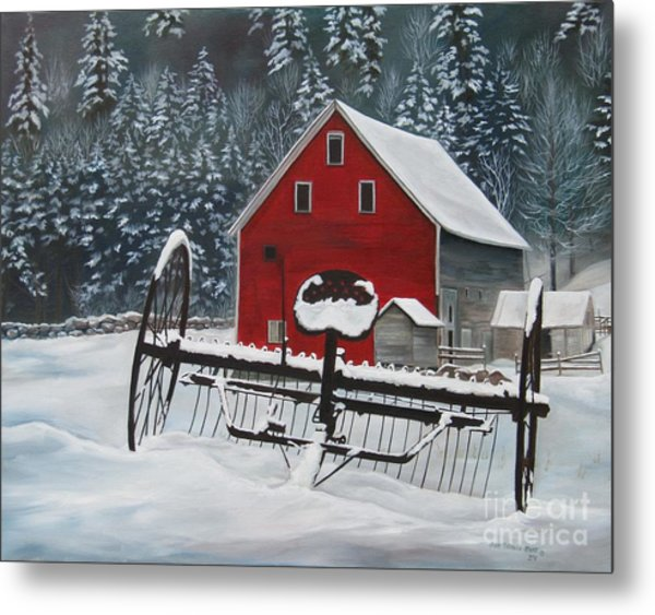 North Country Winter Metal Print
