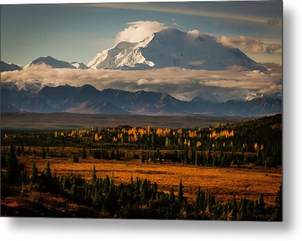 North Face Of Denali Metal Print