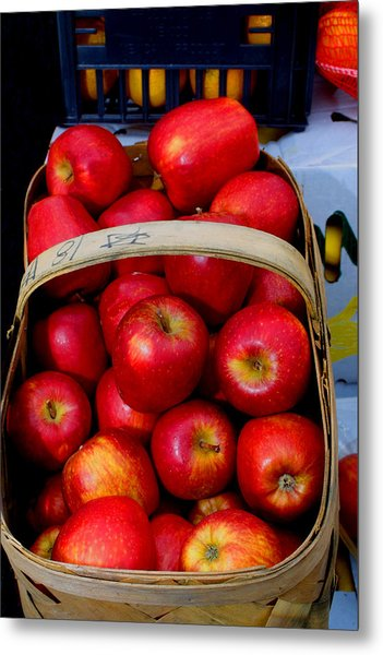 North Ga. Apples Metal Print by Ralph  Perdomo