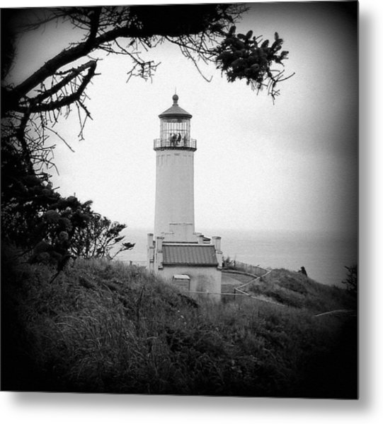 North Head Lighthouse Bw Metal Print by Mg Blackstock