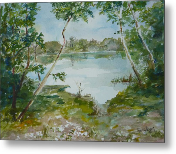 North Lake Metal Print by Dorothy Herron