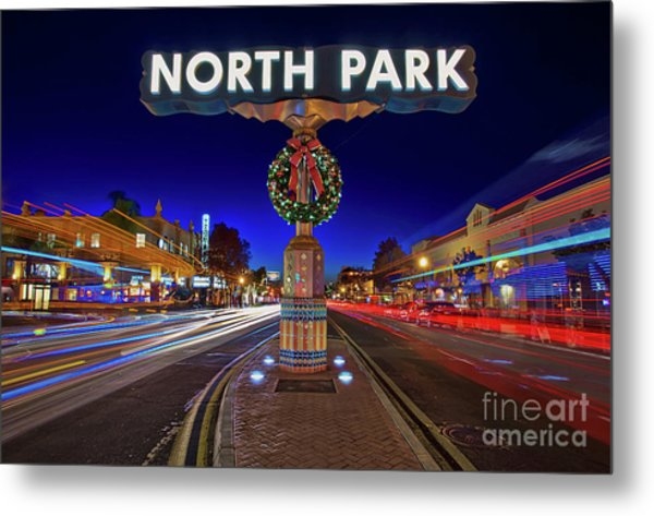 Metal Print featuring the photograph North Park Christmas Rush Hour by Sam Antonio Photography