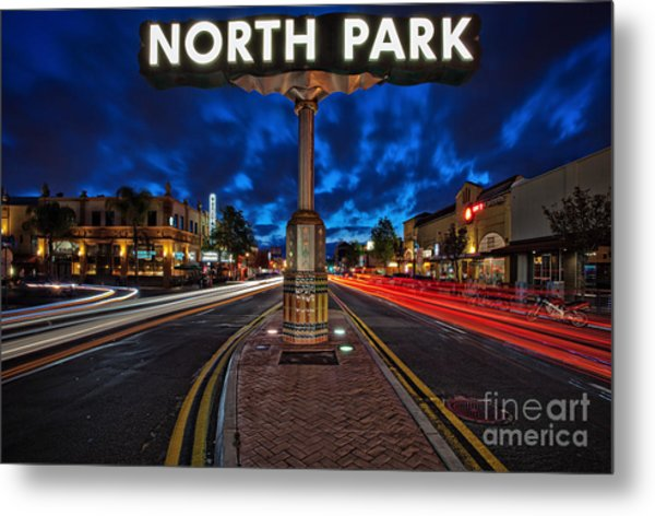 North Park Neon Sign San Diego California Metal Print