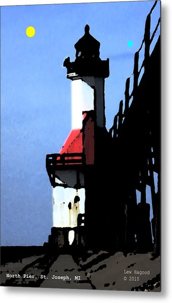 North Pier St Joseph Michigan Metal Print