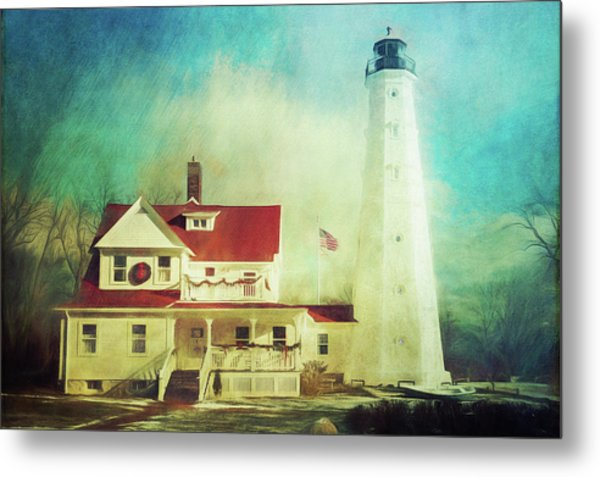 North Point Lighthouse Keeper's Quarters Metal Print