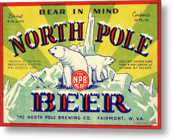 North Pole Beer Metal Print