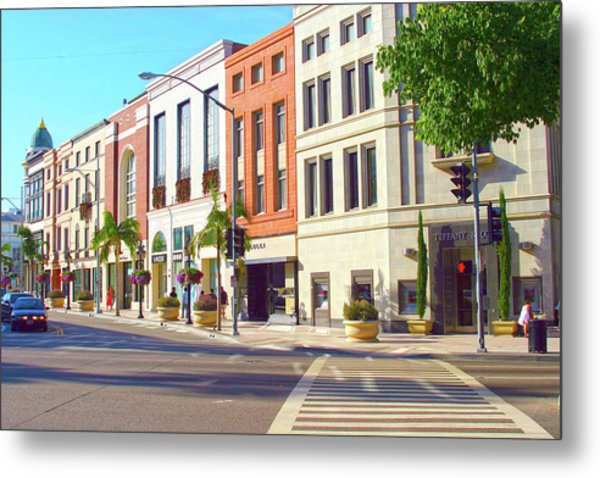 North Rodeo Drive Metal Print