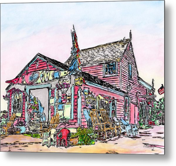 North Shore Kayak Shop, Rockport Massachusetts Metal Print