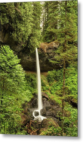 North Silver Falls Metal Print