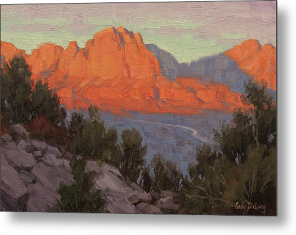 North To Zion Metal Print
