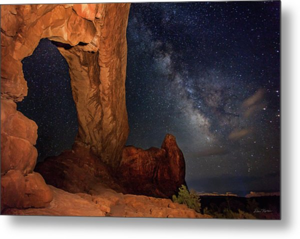 North Window And The Milky Way Metal Print