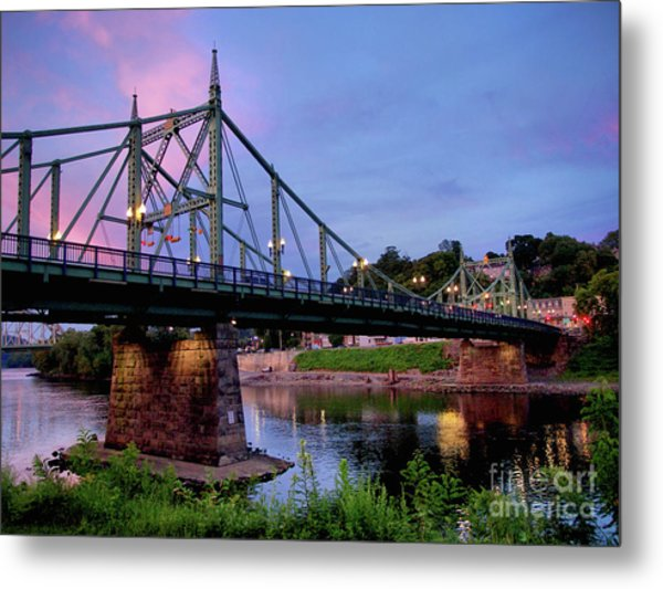 Northampton Street Bridge At Sunset Metal Print