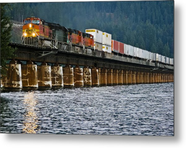 Northbound At Dusk Metal Print