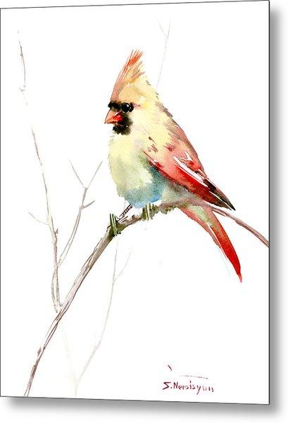 Northern Cardinal,female Metal Print