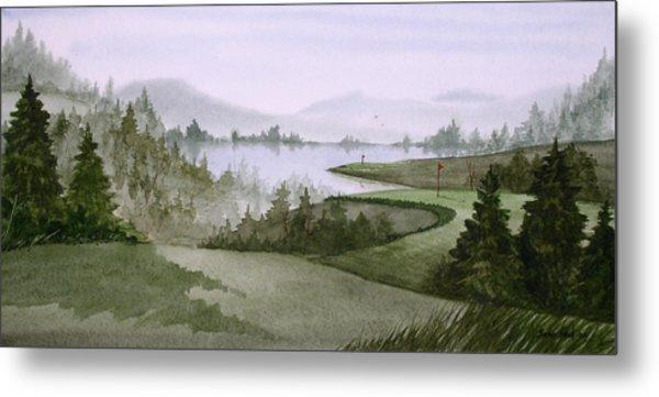 Northern Lake Golf Metal Print by Sean Seal