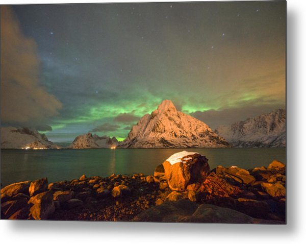 Spectacular Night In Lofoten 3 Metal Print