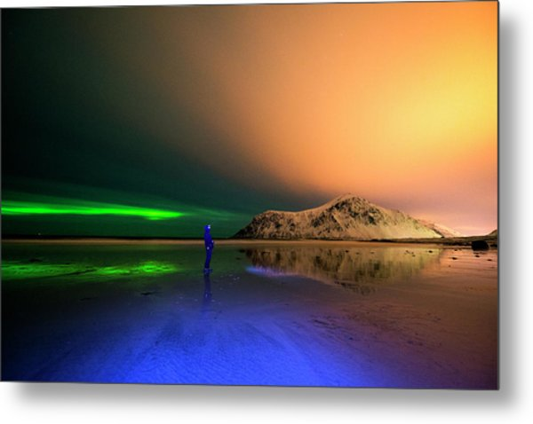 Northern Light In Lofoten, Nordland 4 Metal Print