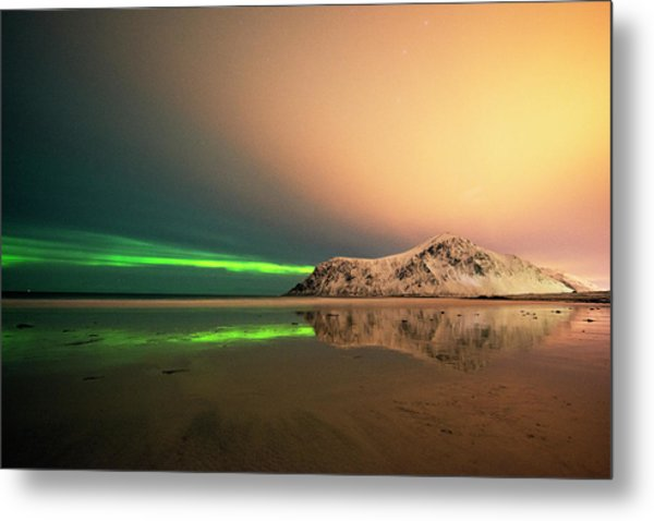 Northern Light In Lofoten Nordland 5 Metal Print