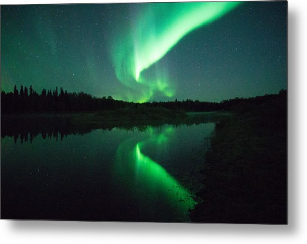 Northern Lights Alaska Metal Print