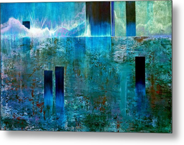 Northern Lights Rising Metal Print