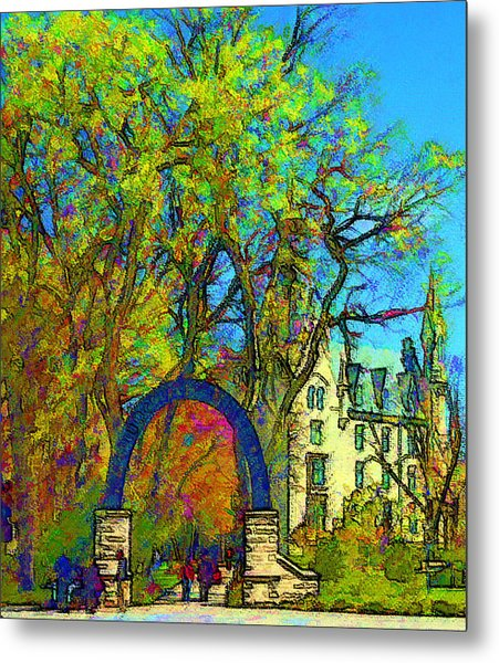 Northwestern Arch  Metal Print