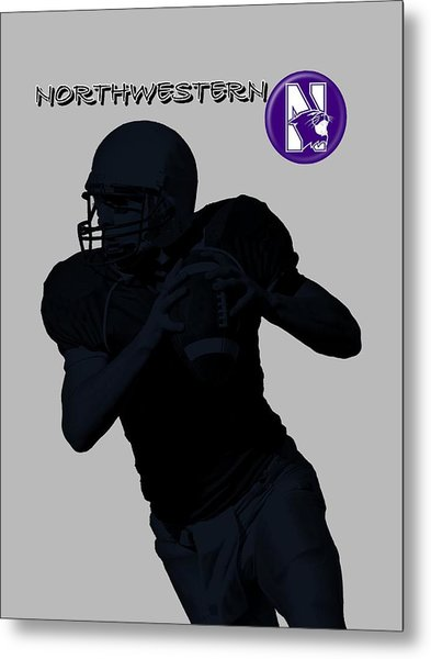 Northwestern Football Metal Print