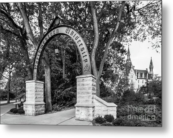 Northwestern University The Arch Metal Print by University Icons
