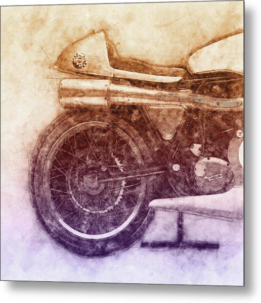 Norton Manx 2 - Norton Motorcycles - 1947 - Vintage Motorcycle Poster - Automotive Art Metal Print