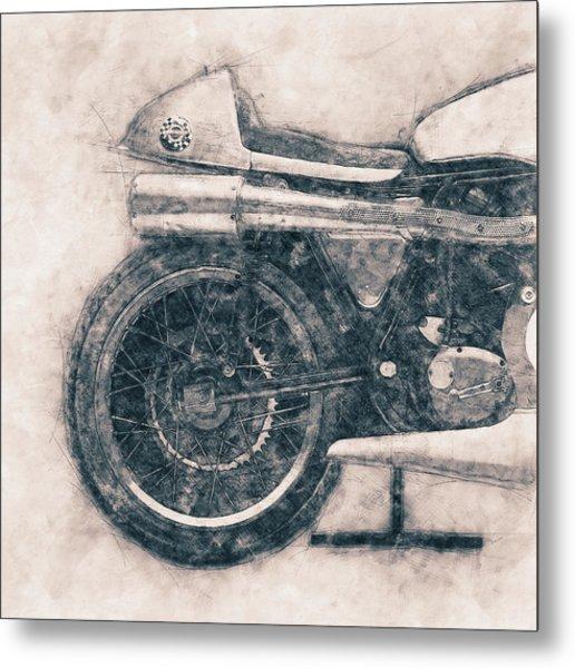 Norton Manx - Norton Motorcycles - 1947 - Vintage Motorcycle Poster - Automotive Art Metal Print