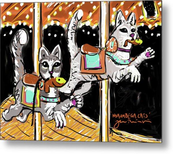 Norumbega Cats Metal Print