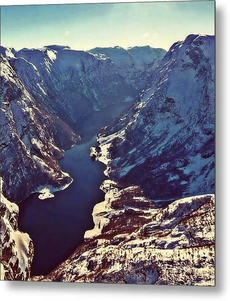 Norway Mountains Metal Print