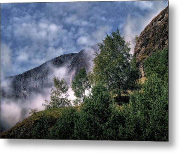Norway Mountainside Metal Print