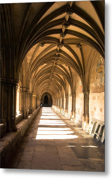 Norwich Cathedral Portico  Metal Print