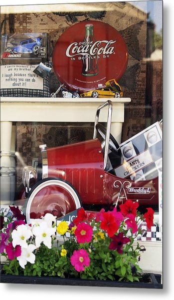 Nostalgic Window Display Metal Print