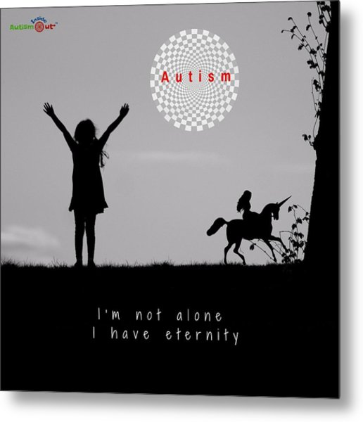 Not Alone Metal Print