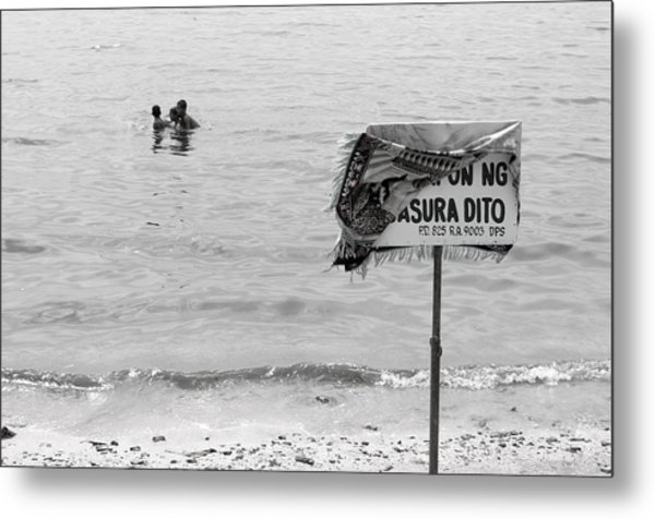 Not The Best Place To Swim 2 Metal Print by Jez C Self
