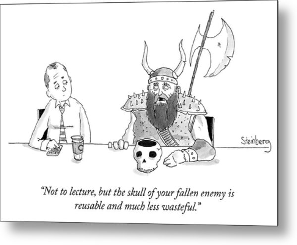 Not To Lecture Metal Print
