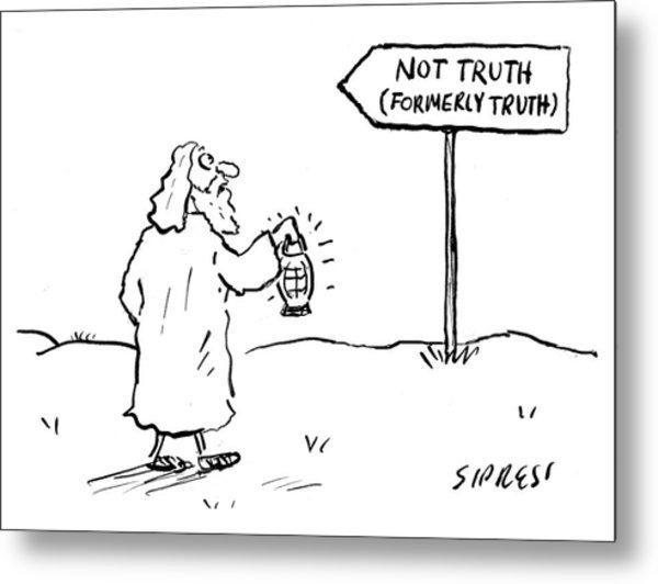 Not Truth Metal Print