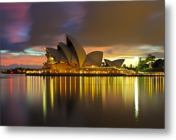 Notes Of The Golden Hour Metal Print