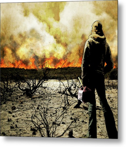 Nothing Left To Burn Metal Print