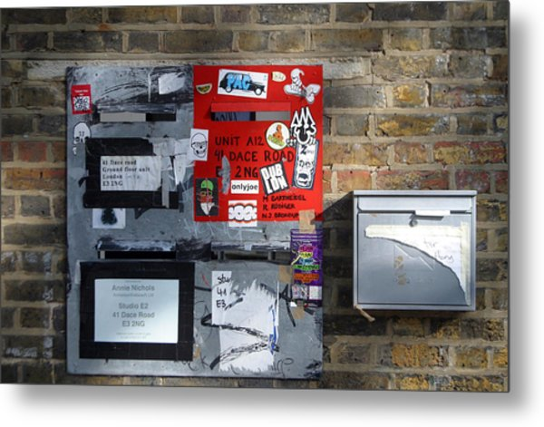 Notice Board For Scrap Metal Print by Jez C Self