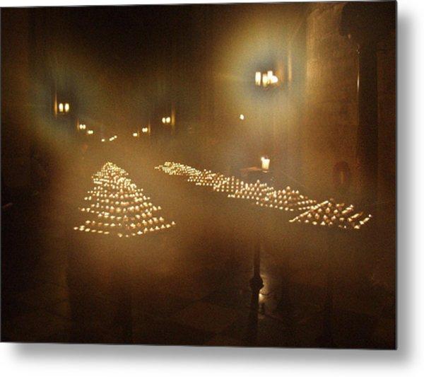 Notre Dame Candles Metal Print
