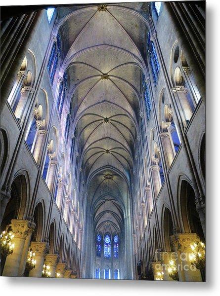 Notre Dame De Paris - A View From The Floor Metal Print