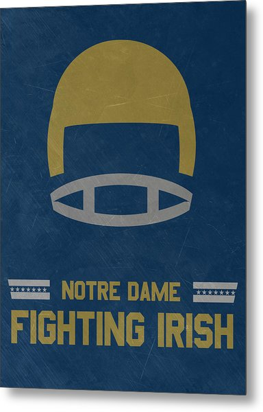 Notre Dame Fighting Irish Vintage Football Art Metal Print