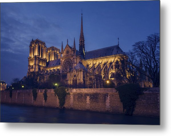 Notre Dame On The Seine Metal Print