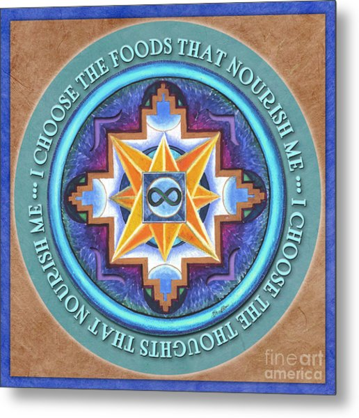 Nourish Mandala Prayer Metal Print