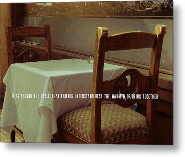 Nouvelle Quote Metal Print by JAMART Photography