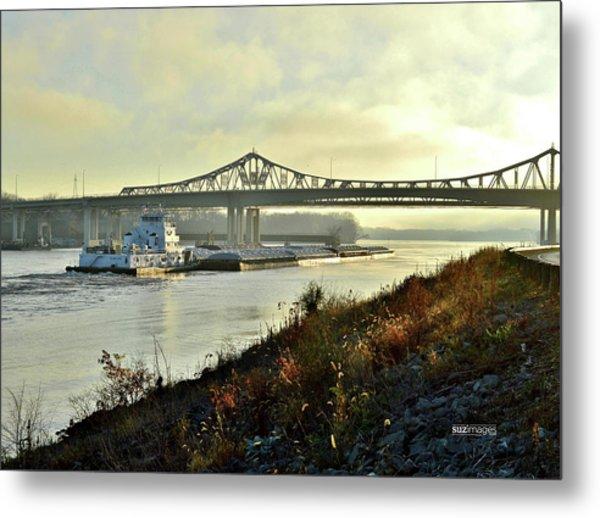 November Barge Metal Print