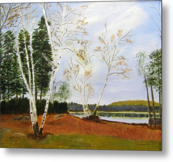 Metal Print featuring the painting November Day by Linda Feinberg
