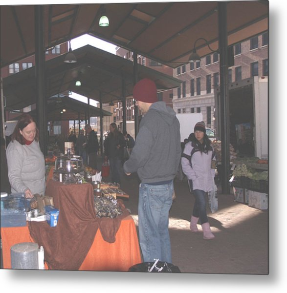 November Farmers Market Lowertown Metal Print by Janis Beauchamp
